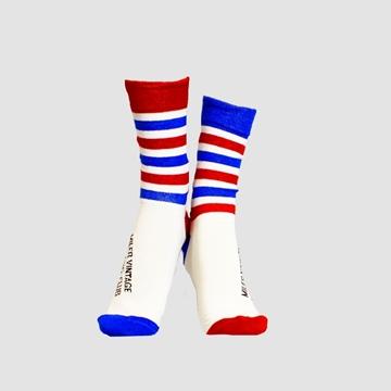 Calcetines -Rayas-rojas-y-azules